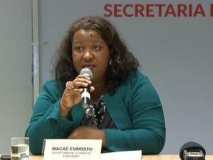 Secretário de Estado de Educação Macaé Evaristo fala sobre propostas apresentadas aos servidores (Foto: Reprodução/TV Globo)