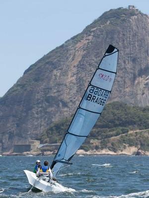 vela paralímpica Bruno Landgraf (Foto: José Olímpio)