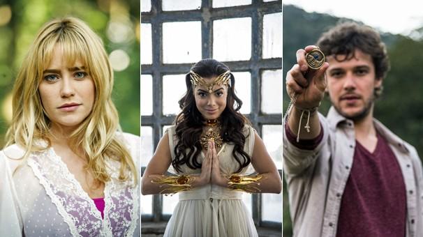 Fernanda Vasconcellos, Anitta e Jayme Matarazzo estão no elenco do filme Didi e o Segredo dos Anjos (Foto: Globo)