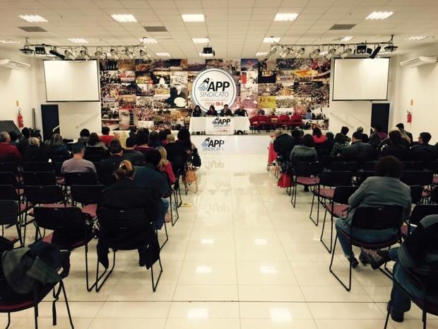 Sindicato se reúne nesta sexta-feira (15), após Governo do Paraná anunciar o fim das negociações (Foto: APP-Sindicato / Divulgação)