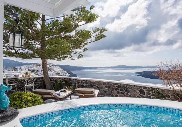 Casa em ilha de Santorini, na Grécia (Foto: Divulgação)