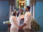 Preta Gil e Rodrigo Godoy sobem ao altar para renovar os votos