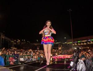paula fernandes, cantora, show, efapi, chapecoense (Foto: Márcio Cunha/GDO)