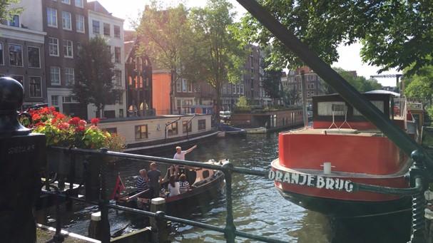 Amsterdã, na Holanda (Foto: Malu Neves)