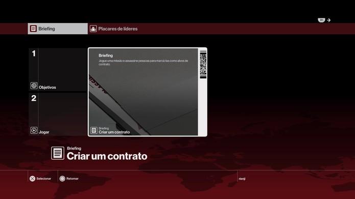 Criação de contratos no novo Hitman (Foto: Reprodução/Felipe Vinha)