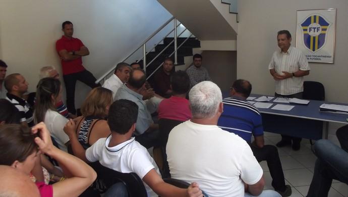 Leomar Quintanilha é reeleito presidente da FTF (Foto: Inês Freitas/FTF)