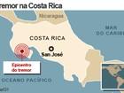 Forte terremoto atinge a Costa Rica