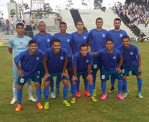 Elenco do FEC que jogou contra o Araxá (Foto: FEC/Divulgação)