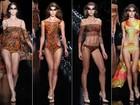 Marca Triya mostra biquínis cavados e com recortes vazados, no Fashion Rio