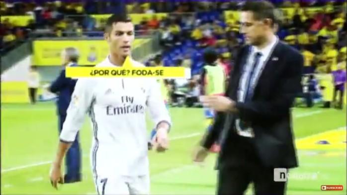 BLOG: TV flagra fúria de Cristiano Ronaldo após substituição em jogo do Real Madrid