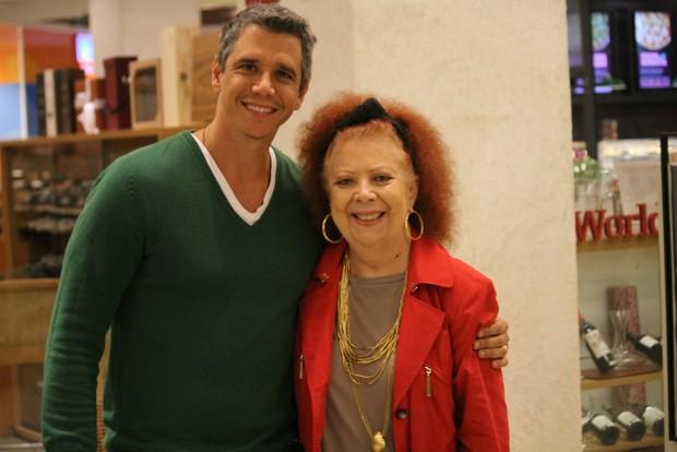 Marcio Garcia e Beth Carvalho (Foto: Agnews)