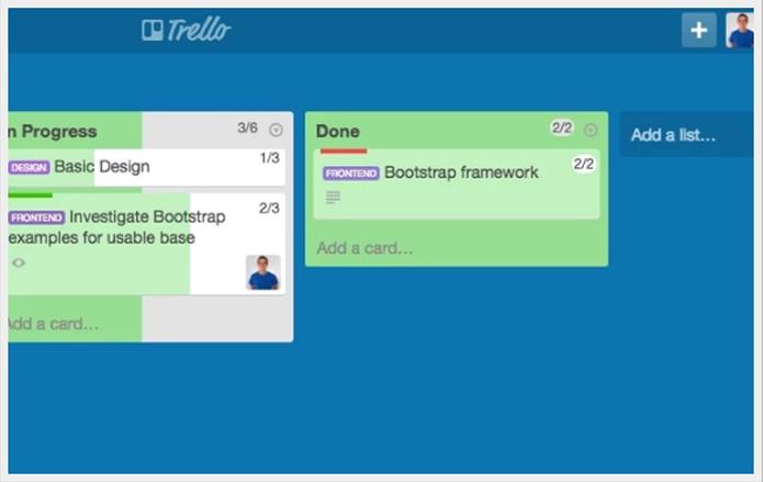Agile Scrum for Trello também acrescenta sistema de pontos e cria barras de evolução (Foto: Reprodução/Gabriel Galli)