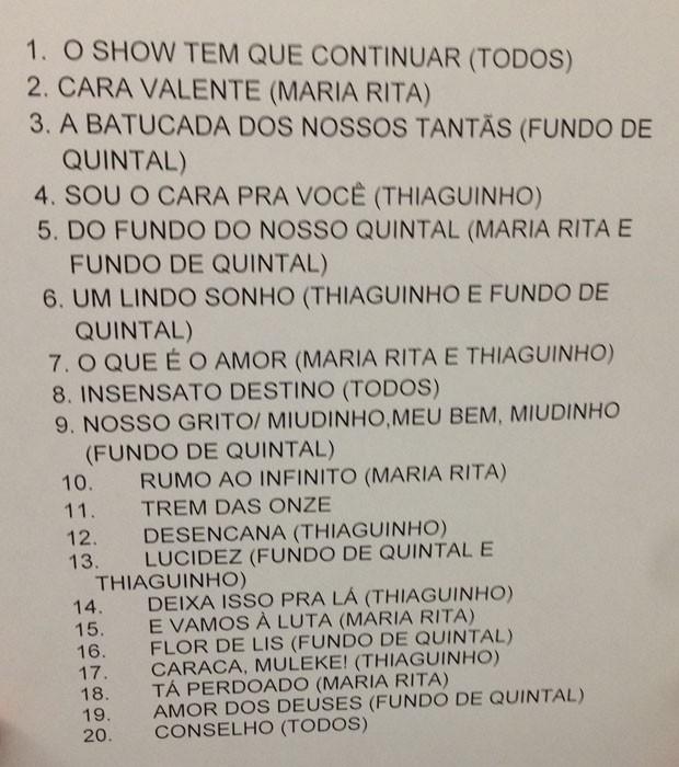 Setlist: Thiaguinho, Maria Rita e Fundo de Quintal no Msica Boa Ao Vivo (Foto: Multishow)