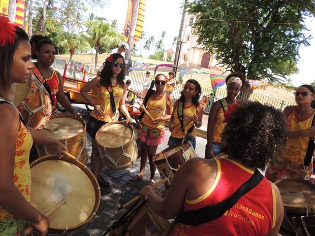 ConXitas fazem ensaios finais antes da abertura oficial do carnaval (Foto: Katherine Coutinho / G1)