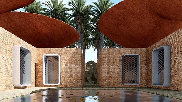 Estúdio iraniano cria projeto para captar água da chuva  (Foto: Divulgação)