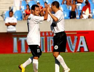 comemoração do Resende na TG de 2009 contra o Flamengo (Foto: Globoesporte.com)
