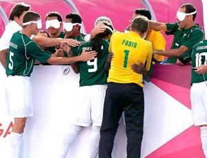 Brasil futebol de 5 comemoração (Foto: Reuters)