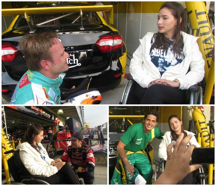 Lais Souza conheceu Rubens Barrichello, Cacá Bueno e Marcos Gomes em Interlagos (Foto: Felipe Siqueira)
