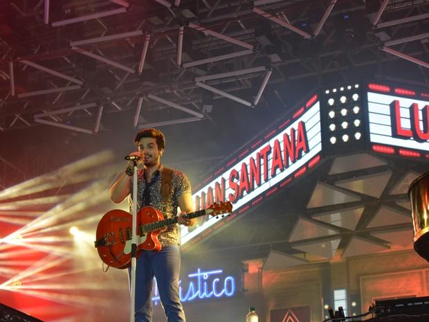 Luan Santana (Foto: Jonatas Boni/ G1)