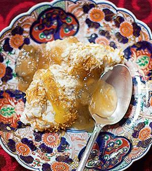 Musse de coco queimado com baba de moça  (Foto:  )