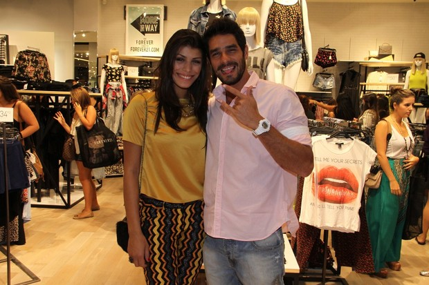 Diego e Fran (Foto: Photo Rio News)