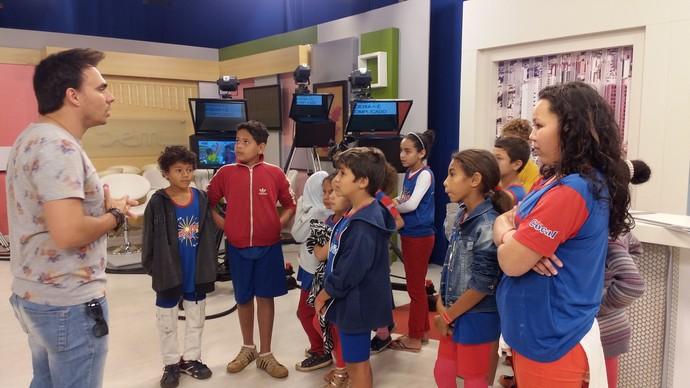 Mário participou de ação de comemoração ao Dia da Televisão (Foto: Fernanda Resende)