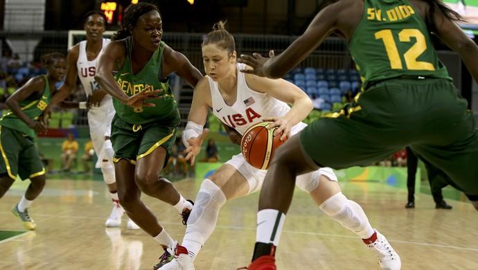 Estados Unidos x Senegal; basquete feminino; olimpíada 2016 (Foto: REUTERS/Shannon Stapleton)