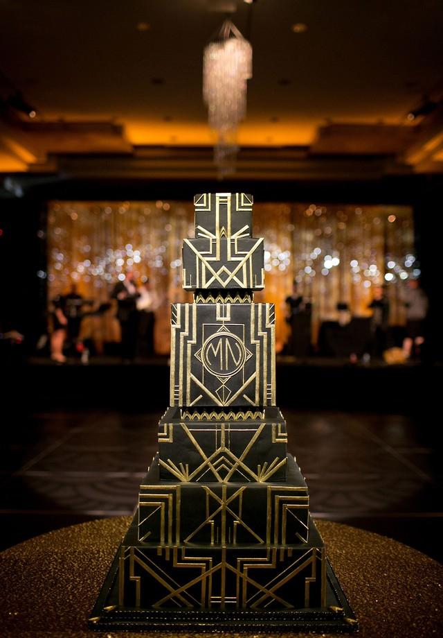Bolo de casamento inspirado no movimento art déco (Foto: Reprodução)