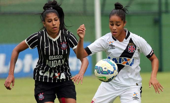 Corinthians e Vasco futebol feminino (Foto: Marcos de Paula / ALLSPORTS)