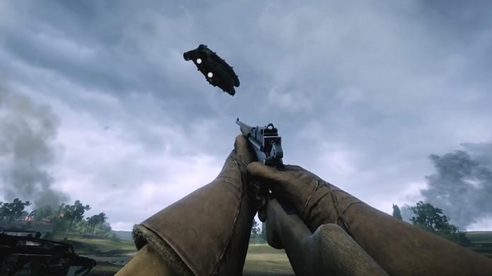Um mero erro de colisão em Battlefield 1 é o suficiente para fazer tanques voarem (Foto: Reprodução/YouTube)