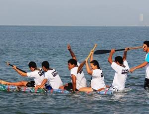 Equipe canoagem Gênesis Canoe Guarujá (Foto: Divulgação / Prefeitura de Guarujá)