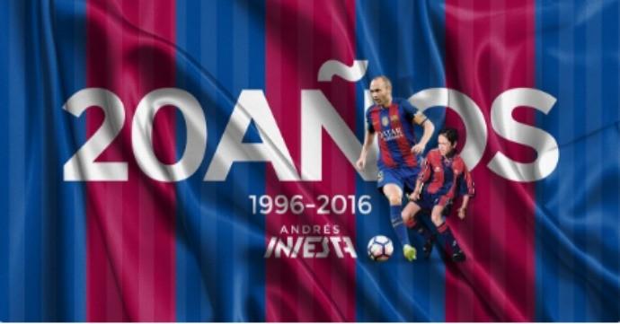 BLOG: Ídolo, campeão e referência: meia Iniesta comemora 20 anos de Barcelona
