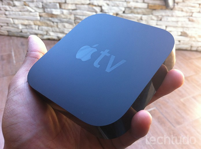 Apple TV se destaca por desing fino e discrição (Foto: Marvin Costa/ TechTudo)