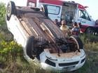 Carro com 9 pessoas, capota e 2 morrem (Divulgação/BPRE)