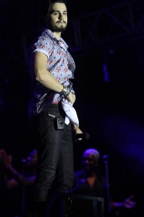 Luan Santana em show em Crato, no Ceará (Foto: Fred Pontes/ Divulgação)