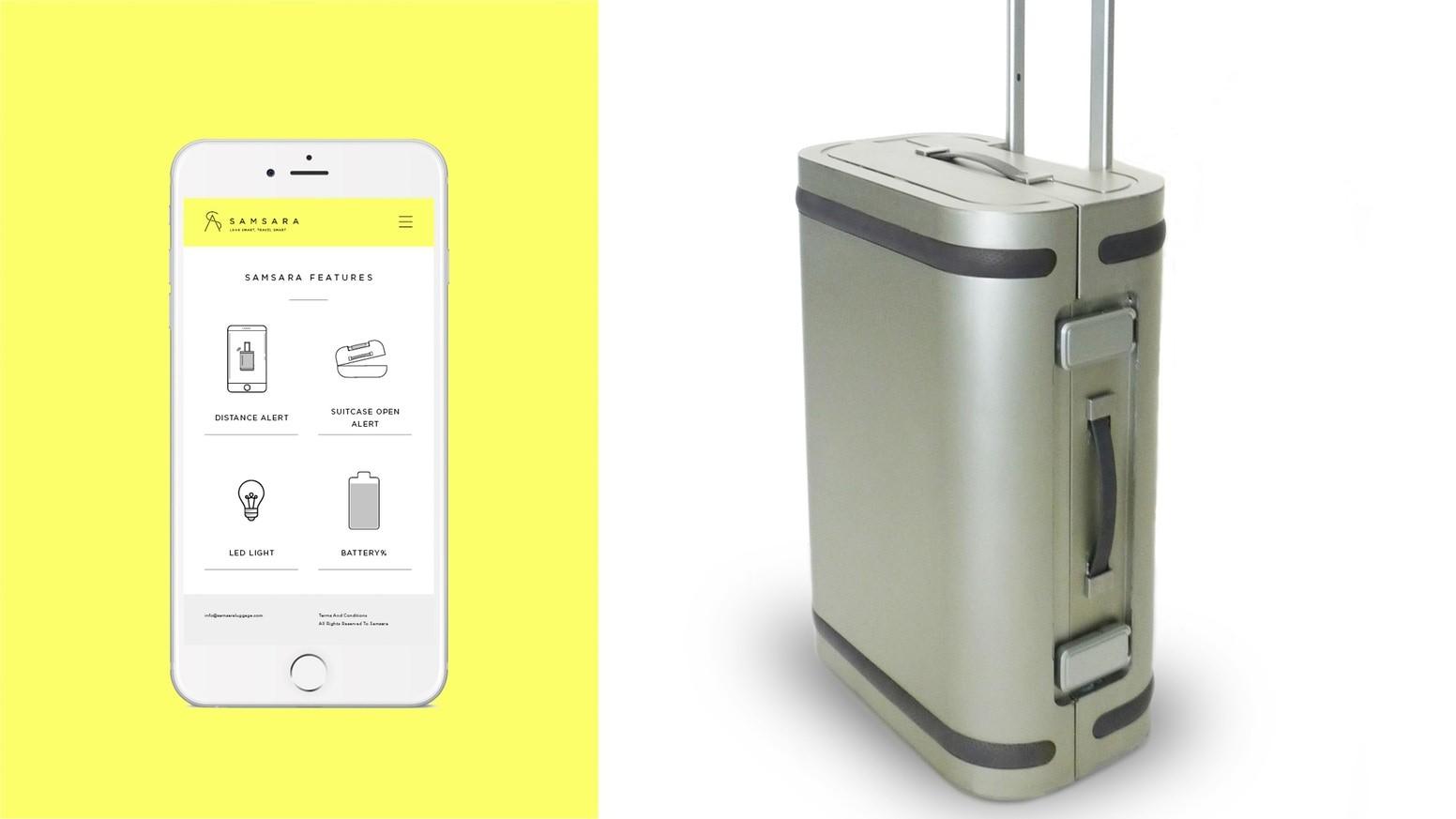 Aplicativo permite a comunicação entre a mala e o smartphone (Foto: Divulgação)