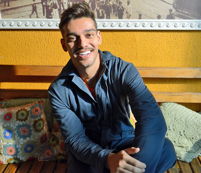 Lucas Lucco grava cena de ação para 'Malhação' (Foto: Pedro Carrilho/Gshow)