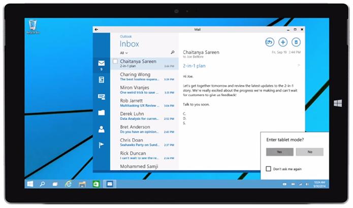 Veja como o Windows 10 vai se adaptar a dispositivos híbridos (Foto: Reprodução/Microsoft)