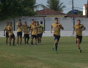 Treino do Botafogo-PB na Maravilha do Contorno (Foto: Reprodução / TV Cabo Branco)