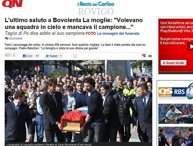 enterro de Vigor Bovolenta jogador de vôlei (Foto: Reprodução)