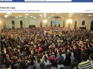 Missas do padre atraiam milhares de fiéis em Rio Claro (Foto: Reprodução/Facebook)