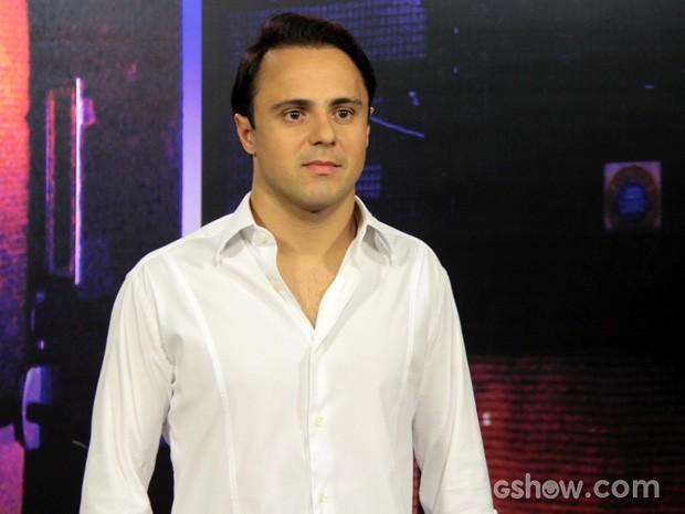 Felipe Massa comenta as mudanças na temporada 2014 da Fórmula 1 (Foto: TV Globo/Altas Horas)