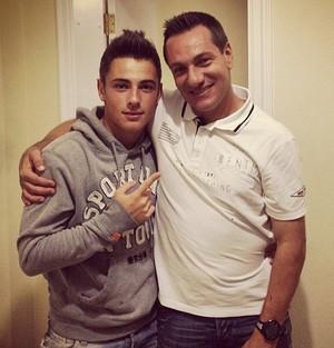 Doriva, técnico do Vasco, e seu filho Diego (Foto: Reprodução / Instagram)