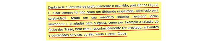 (editado) Parecer Comitê Ética São Paulo Página 20 (Foto: Arte: GloboEsporte.com)