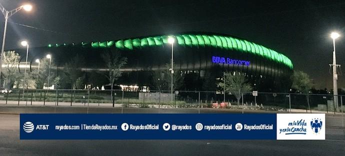 Monterrey também homenageou a Chapecoense (Foto: Reprodução/Twitter)