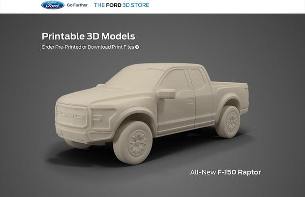 Página 3D da Ford (Foto: divulgação)