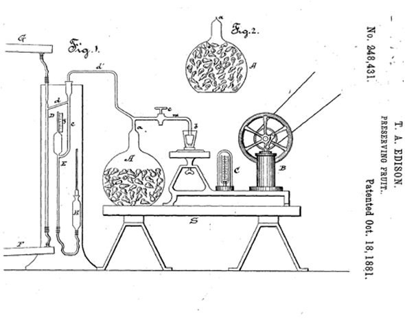 Máquina de vácuo Thomas Edison (Foto: Google Patents)