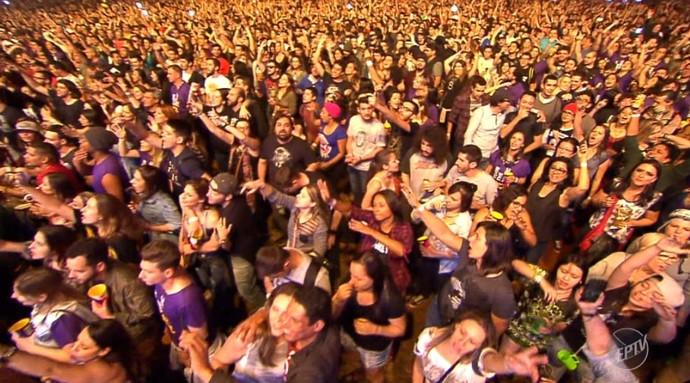 Mais de 40 mil pessoas compareceram ao festival João Rock, em Ribeirão Preto  (Foto: reprodução EPTV)