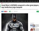 """""""É como comparar um policial com Batman"""", diz Sampaoli, sobre Messi"""