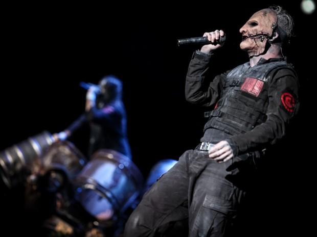 Slipknot é a principal atração do Palco Mundo nesta sexta (25), 5º dia do Rock in Rio (Foto: Fabio Tito/G1)
